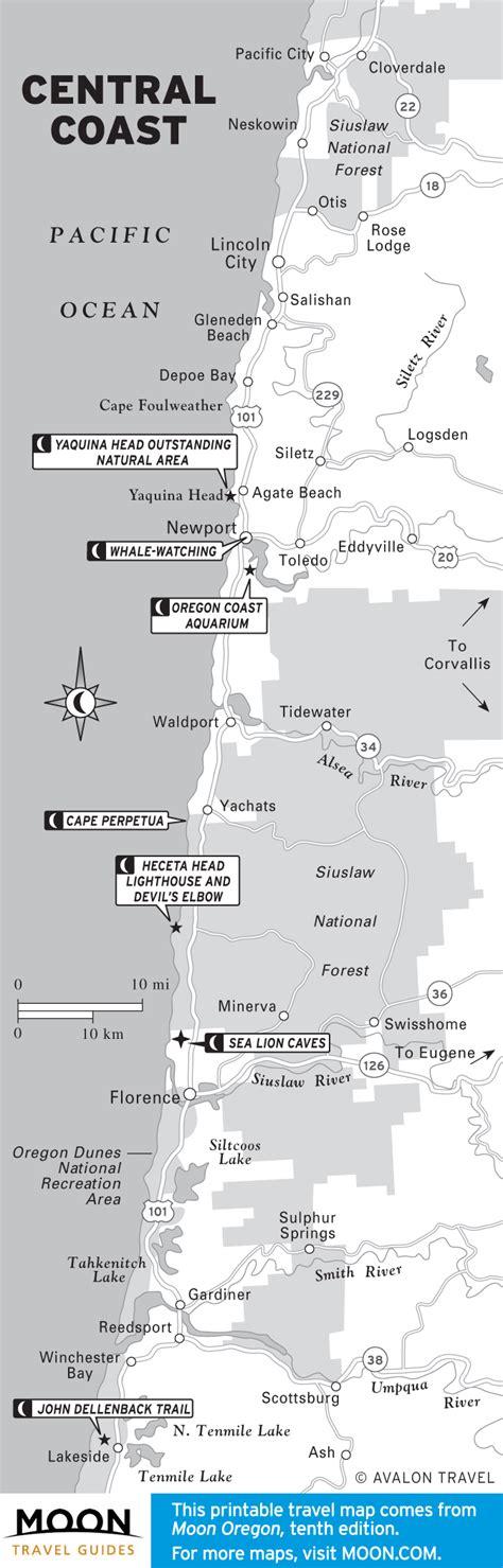 map of oregon coast yurts the 10 best places to c on oregon s coast moon