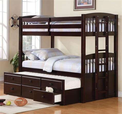 bunk bed with trundle dennis bunk bed w optional trundle bed