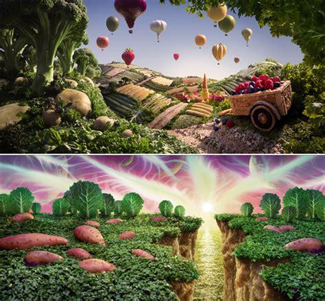 Landscape With Food Carl Warner Food Landscape Photographer Gets A Book Deal
