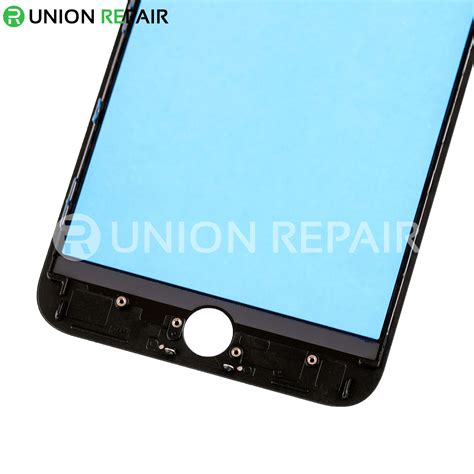 replacement for iphone 8 plus front glass lens with supporting frame black
