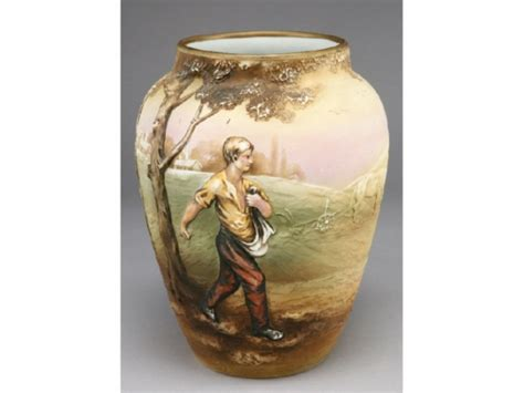 Nippon Vase Value by Nippon Blown Out Johnny Appleseed Vase 1527669