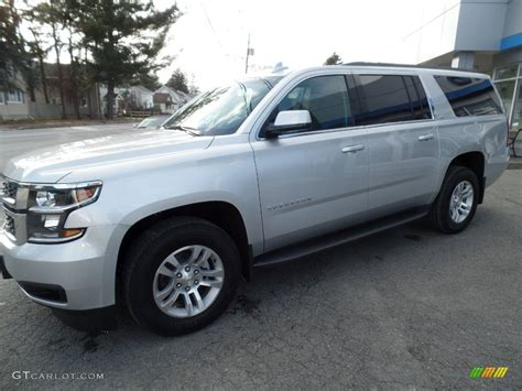 silver ls with white shades 2016 silver ice metallic chevrolet suburban ls 4wd