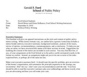 Policy Memo Template by 11 Policy Memo Templates Free Sle Exle Format