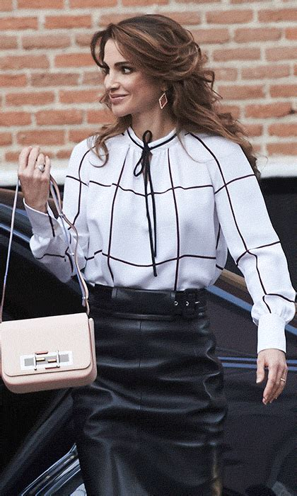 Were The Same But One Wears A Skirt by Letizia Of Spain Has A Twinning Moment As She Wears
