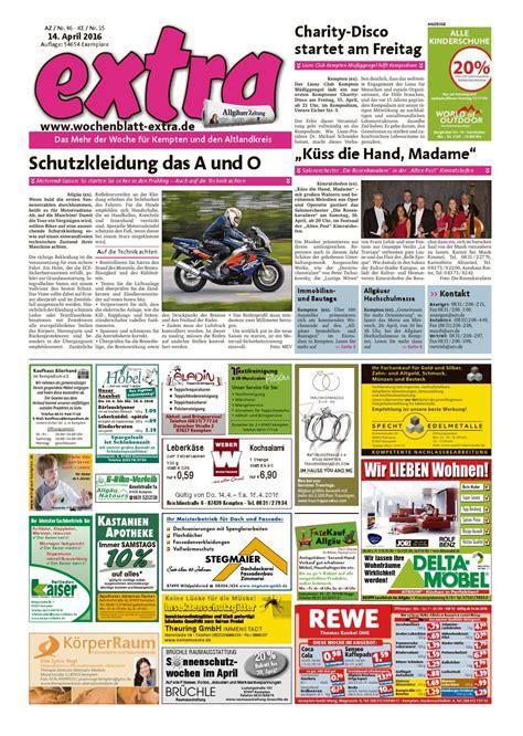 Motorrad Club Kempten by Extra Kempten Vom Donnerstag 14 April By Rta Design Gmbh