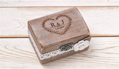 ring box wedding ring holder ring pillow bearer box with