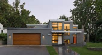 modern flat roof design love the grey rendered walls
