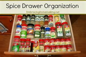 Tiny Kitchens spice drawer organization embracing homemaking