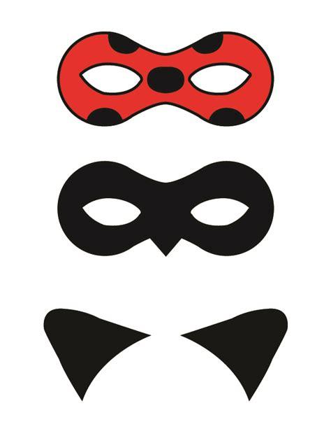 printable ladybird mask template diy miraculous tales of ladybug and cat noir masks