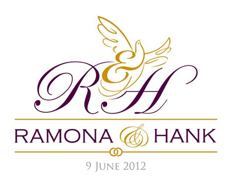 wedding logo vector ramona hank brands of the world vector