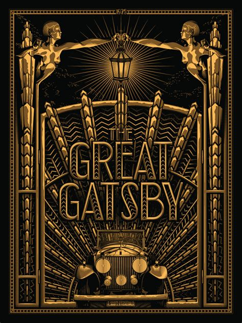 Cool Silkscreened Posters by Well Read The Great Gatsby On Behance