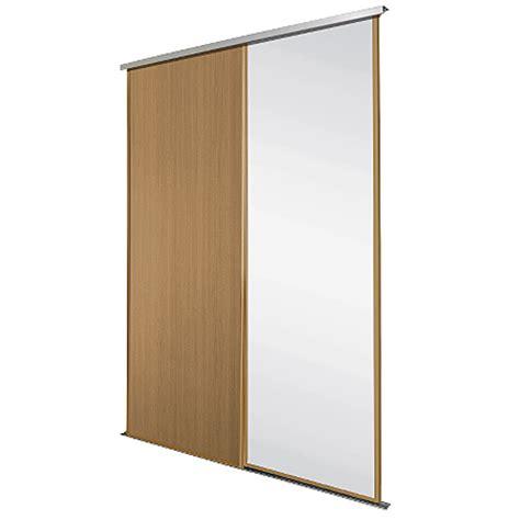 Oak Mirrored Sliding Wardrobe Doors by Oak Frame Mirror Panel Sliding Wardrobe Doors
