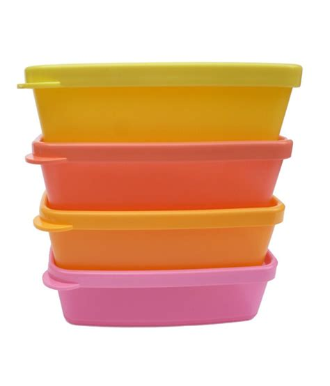 Tupperware Per Set tupperware set of 4 square storage container available at