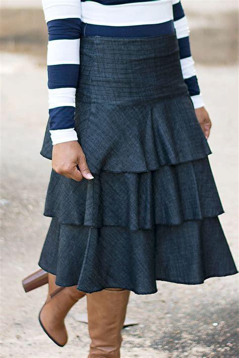 jm layered denim skirt sale jade skirts and