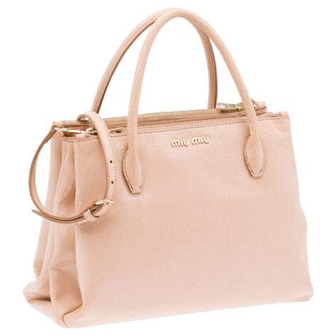 Girly Pink Miu Miu Tote by Miu Miu Craquele Pale Pink Tote Bag Bags