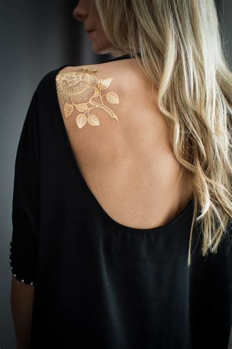 metallic temporary tattoos 25 best ideas about gold temporary on