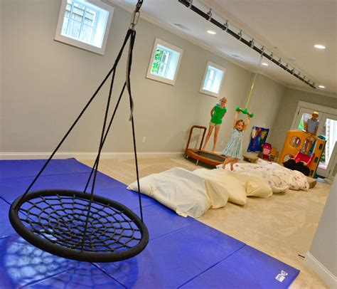 basement swing private quarters decatur home features indoor zip line