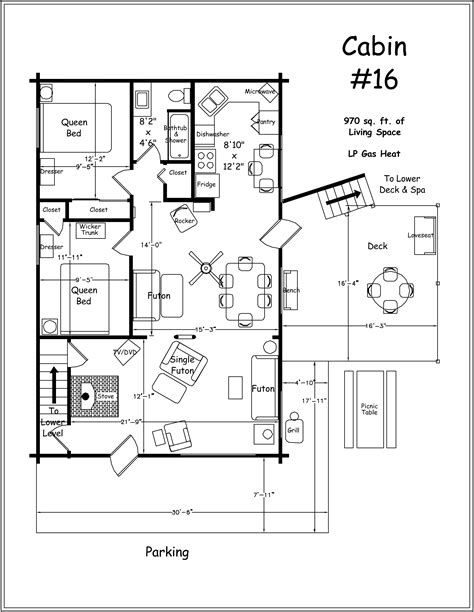 cabin floor plan archer s poudre river resort premium log cabin 16