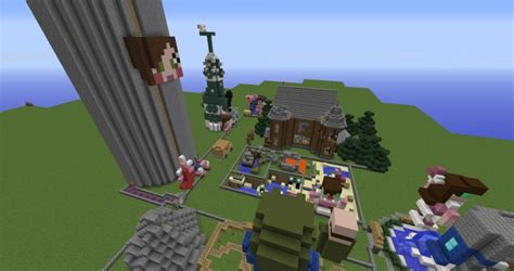 theme park popularmmos popularmmos amusement park minecraft project