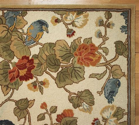 Discontinued Pottery Barn Rugs Lals On Clearance Pottery Barn Bird Floral Rug Decor Look Alikes