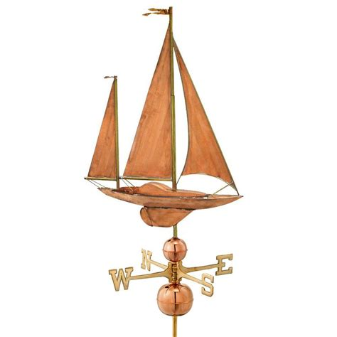 directions large sailboat weathervane copper