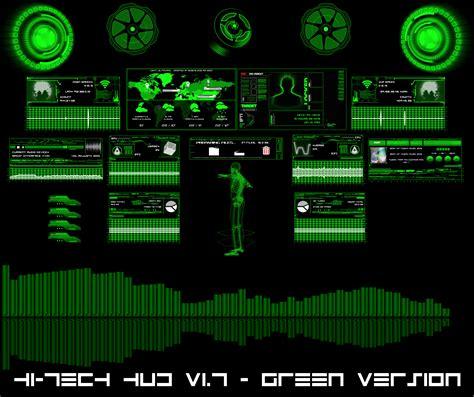 hi tech desktop rainmeter for all windows by takeshikawa hi tech hud green by hekee on deviantart