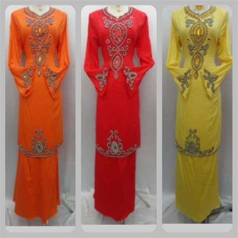 colour baju colour of chiffon by princess orange baju kurung moden rm240