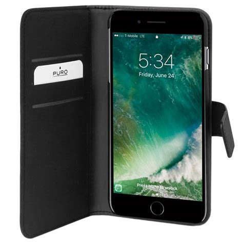 iphone   iphone   puro detachable wallet case black