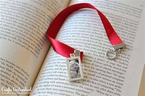 Cool Handmade Bookmarks - bookmarks with diy photo pendants a great gift idea