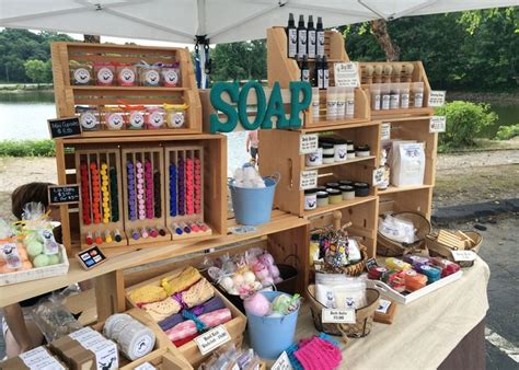 Handmade Marketplace Craft Show - the chaning booth set up display soap display and