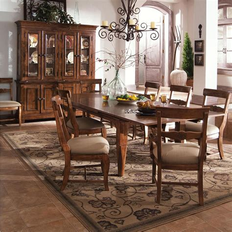 kincaid dining room sets kincaid furniture tuscano 9 pc refectory leg table with 2