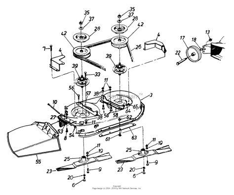 l diagram mtd 134h471f190 38 quot lawn tractor l 12 1994 parts diagram