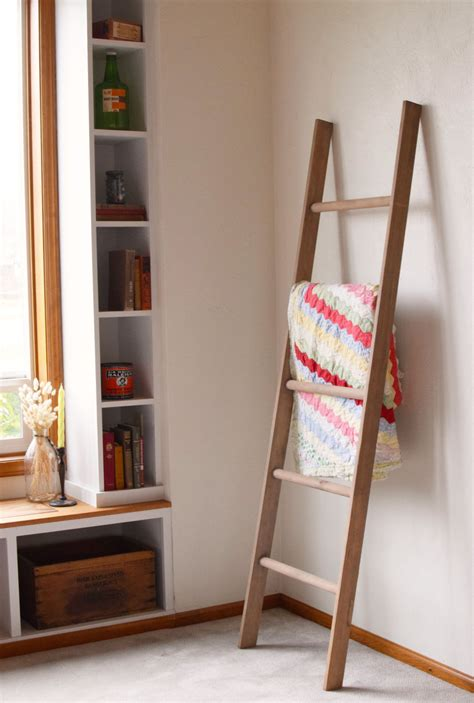Decorative Ladder For Blankets by Large Rustic Blanket Storage Decorative Wooden Ladder Rustic