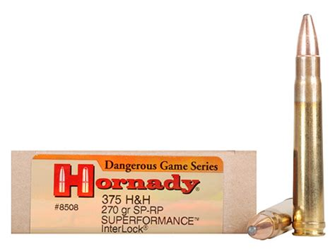h h hornady dangerous game superformance ammo 375 h h mag 270