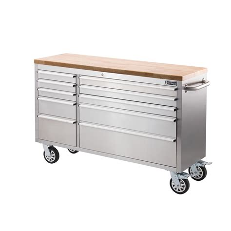 stainless steel drawer slides nz find ultimate storage 56 quot 10 drawer tool trolley at