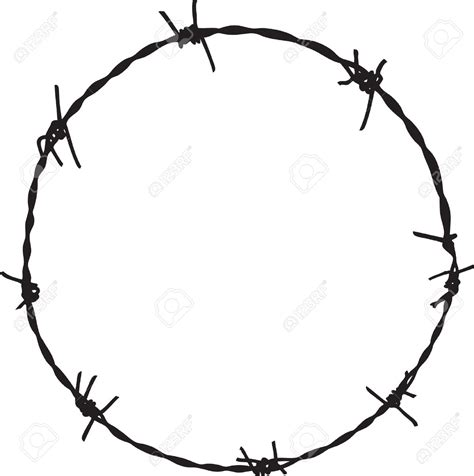 Barb Wire Clipart Barbed Wire Pencil And In Color Barb Barb Wire Drawings
