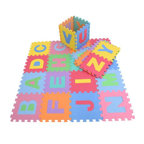 Alphabet Foam Floor Mat by 26sq Large Interlocking Foam Mat Alphabet Letters Soft