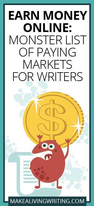 Make Money Online List - earn money online monster list of 161 markets for freelance writers