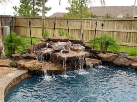 inground pool with waterfall pool waterfall ideas in the corner warrens and rabbits