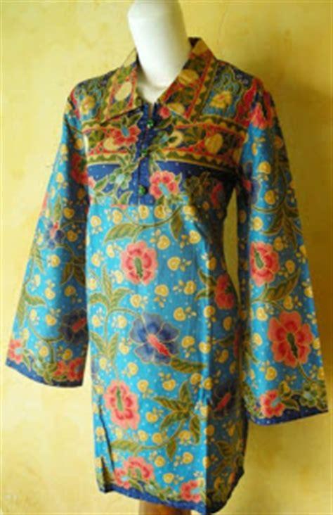 Batik Tunic Sisca Grosir 1 blus tunik batik unik yang cantik dan murah dari okrek