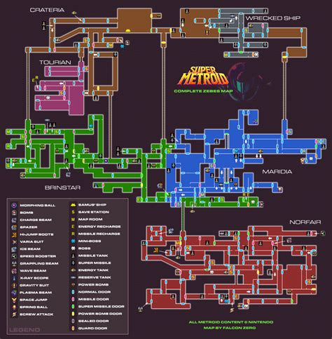Game maps - Super Metroid (Metroid Recon) I M Lost Without You