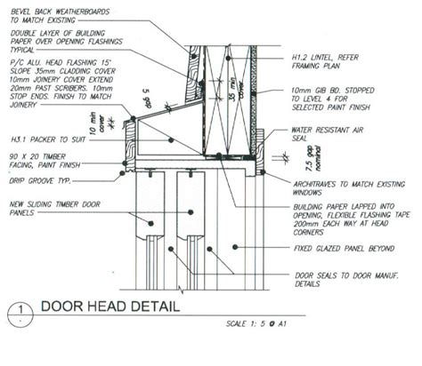 Timber Door Frame Sill Detail