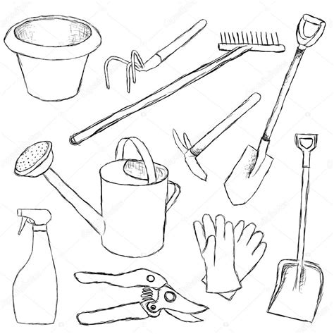 coloring pages garden tools free coloring pages of gardening tools