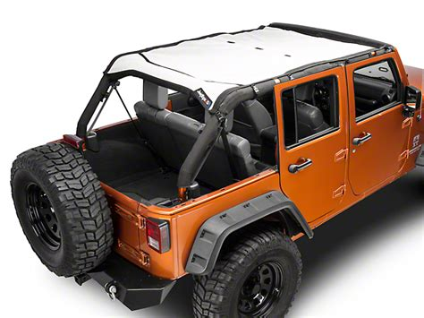 jeep safari white j tops usa wrangler safari mesh white jku saf solid