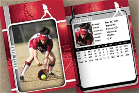 softball trading cards templates sports 171 custom trading cards