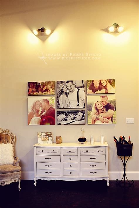 canvas photo layout ideas canvas grouping for bedroom decor 3 20x20 and 3 10x20