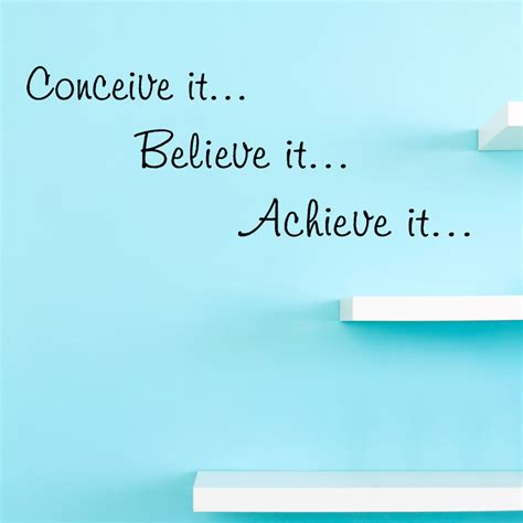 Motivational Quotes Wall Stickers Conceive It Believe It Wall Decal Quotes Christian
