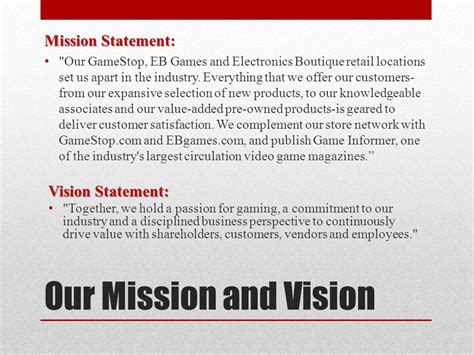 game design vision statement gamestop marketing plan ppt video online download