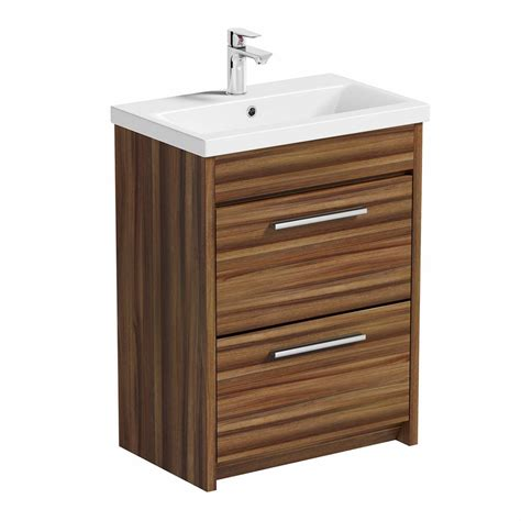 Basin Drawer Unit by Smart Walnut Vanity Drawer Unit With Basin 600mm