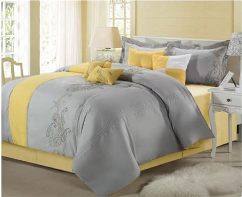 paisley classic 8 piece comforter set yellow grey king